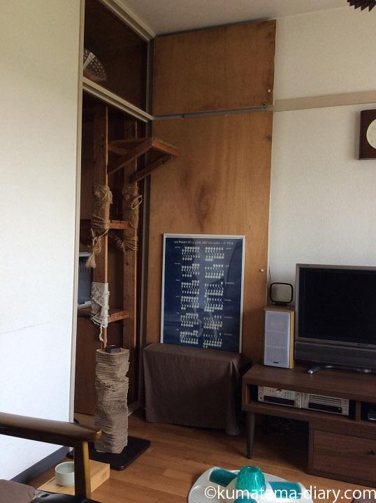 自作のキャットタワー