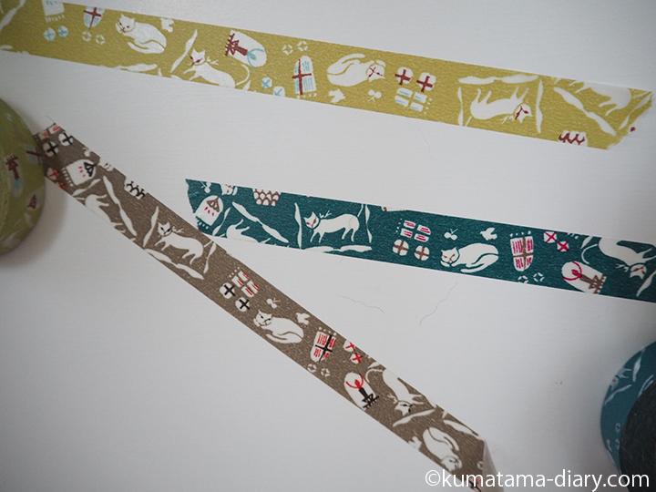 猫屋敷マスキングテープ3色