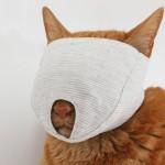 爪きり補助に猫の「もふもふマスク」
