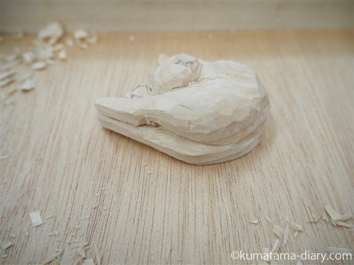木彫り途中