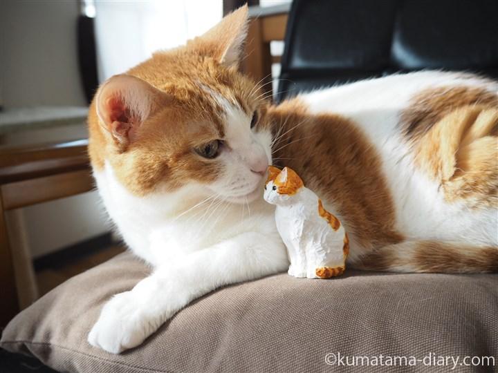 たまきと木彫りの猫