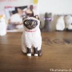入間市のフレンチ「ポティロン」の看板猫をモデルに木彫りの猫を作りました