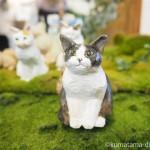 「にゃっ展2016」でバンナイリョウジさんの木彫り猫を見ました