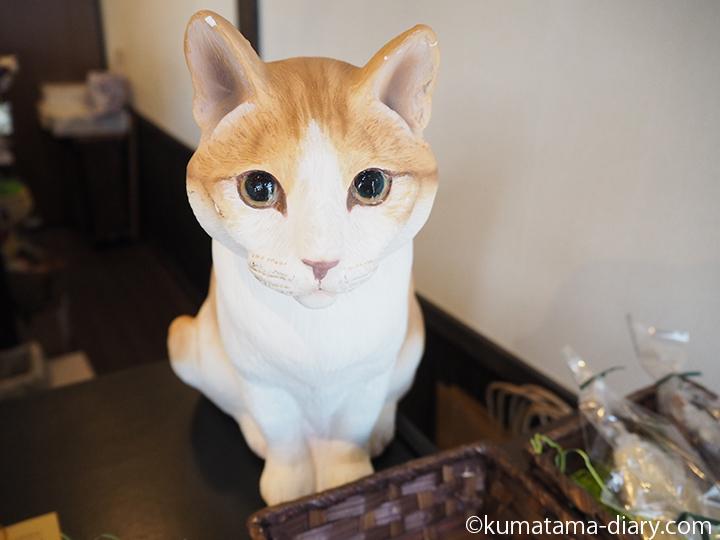 茶トラ白猫のまねきねこ