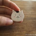 「きょうの猫村さん」の顔の木製マグネットを作りました