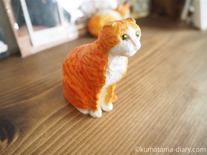木彫り猫スコティッシュフォールド右