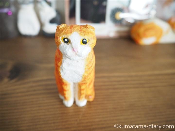 木彫り猫スコティッシュフォールド