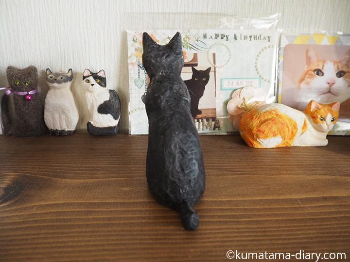 黒白猫さん後ろ姿