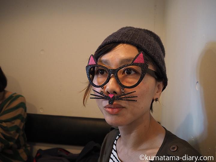 似合うと言われた猫メガネ