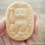 豪徳寺の「東肥軒」で招き猫の和菓子を買いました