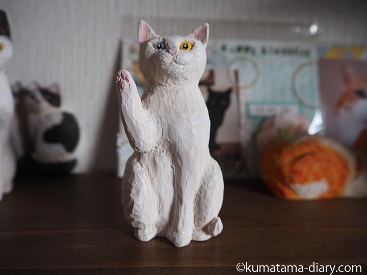 上向き招き猫
