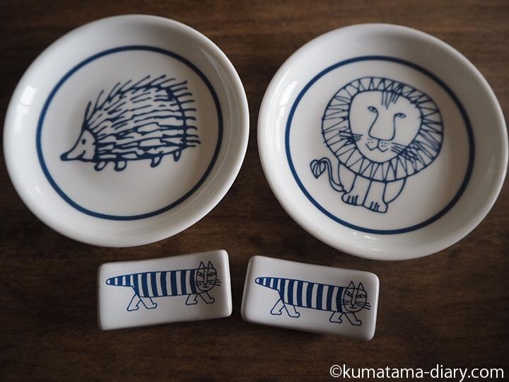 「リサ・ラーソン」の豆皿&箸置き2客セット