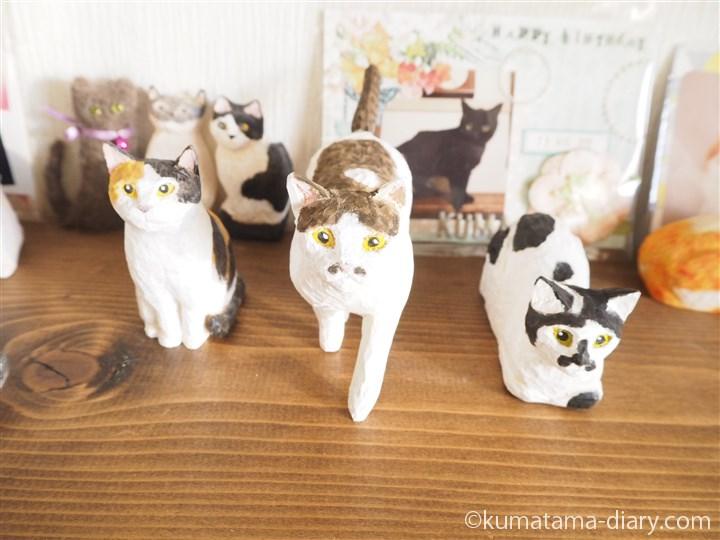 最近作った木彫り猫