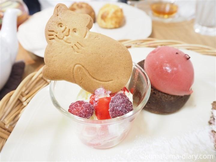 ネコ型クッキー