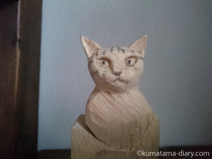 木彫り猫の顔の練習