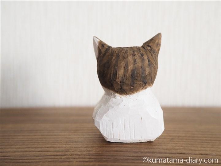 キジトラ白猫さん後ろ