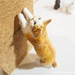 「にゃっ展2017」でバンナイリョウジさんの木彫り猫を見ました