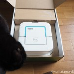レンティオでレンタル中の拭き掃除ロボット「ブラーバジェット」が気になる猫