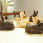 ギャラリー空箱(ソラノハコ)でワークショップ「木彫り猫のブローチ作り」に参加しました
