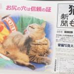 『月刊猫とも新聞』2017年8月号の特集は「お尻の穴は信頼の証」です