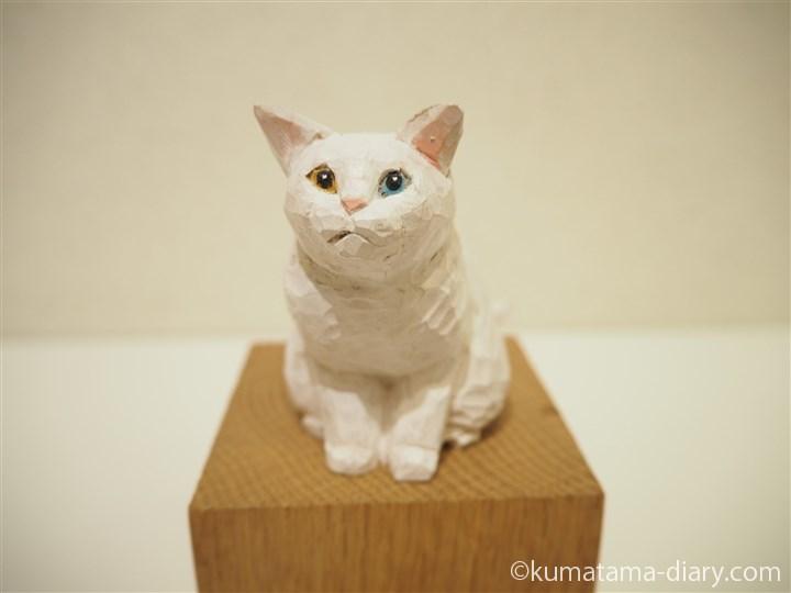 白猫さん木彫り