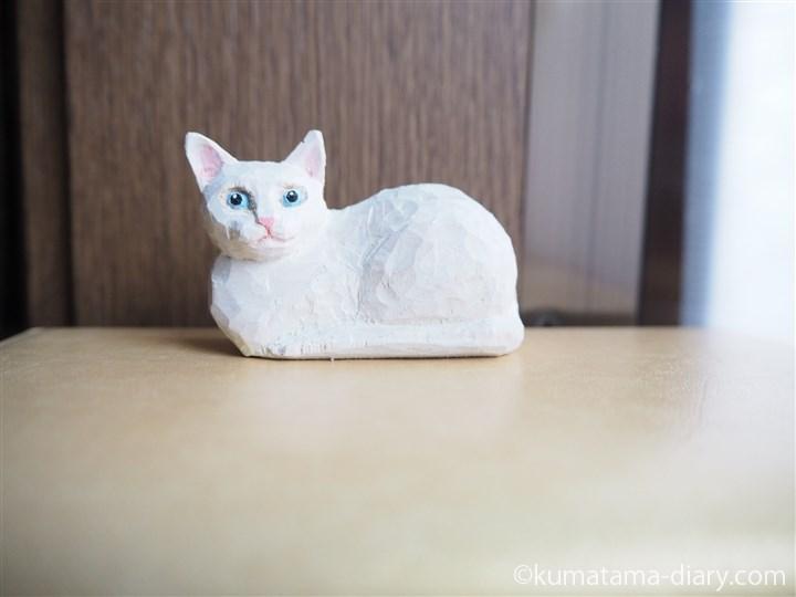 木彫り白猫マグネット