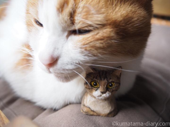 木彫り猫とたまき