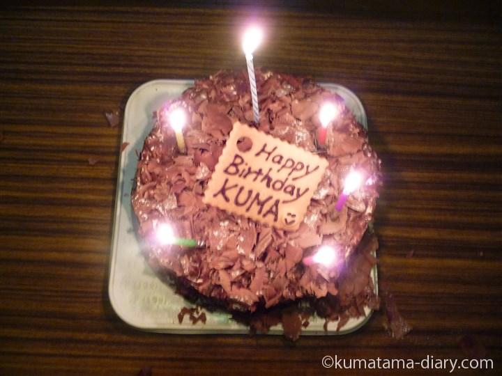 くま誕生日ケーキ