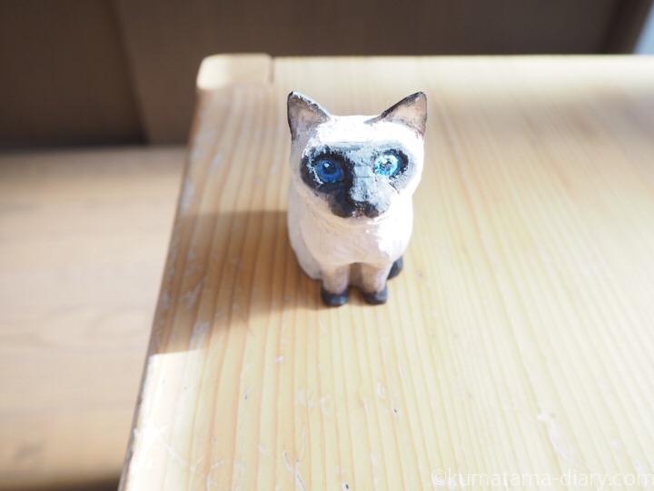 シャム猫木彫り