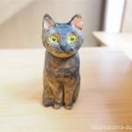木彫りのサビ猫さんを作りました