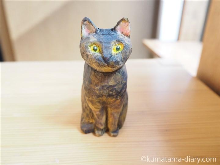 木彫りサビ猫