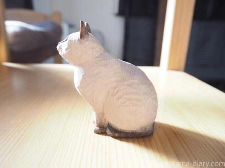 木彫り猫横