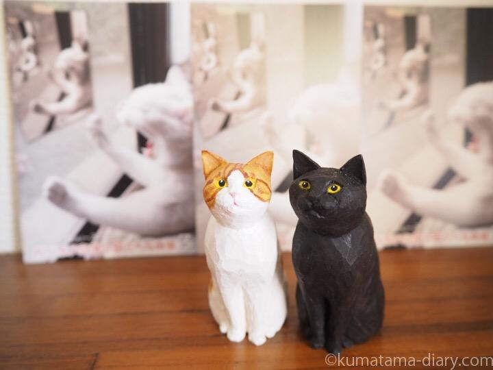 くまたま木彫り猫