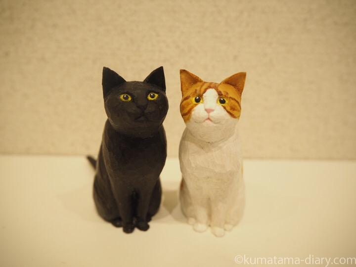 くまたまの木彫り猫