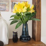 【月命日】「ホルムガード フローラベース」にお花を飾っています