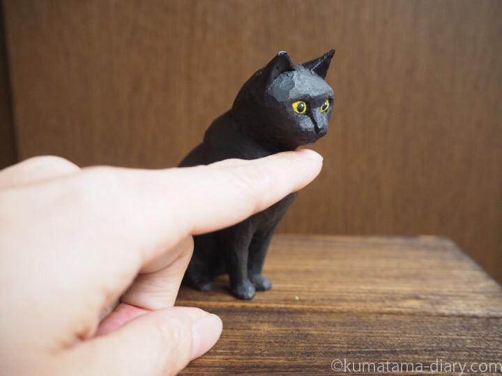 くま木彫り猫