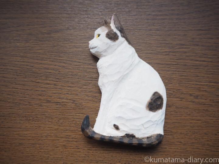 いっちゃん木彫り猫マグネット