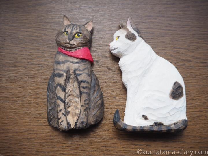 木彫り猫マグネット