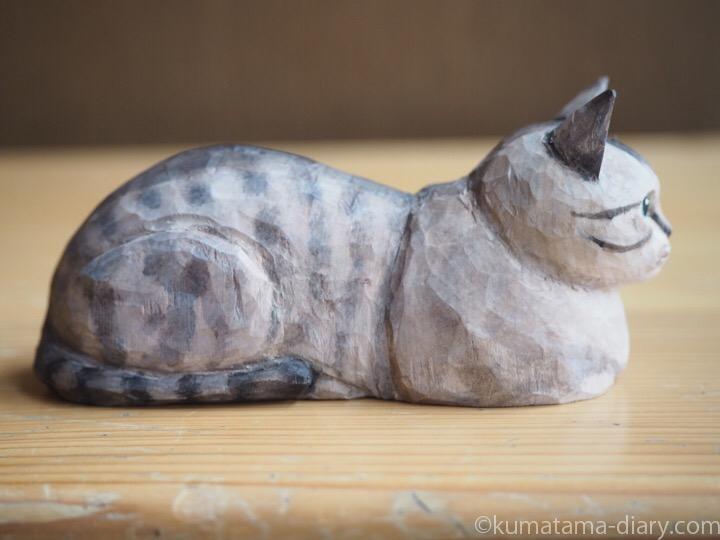 シャムトラ木彫り猫右
