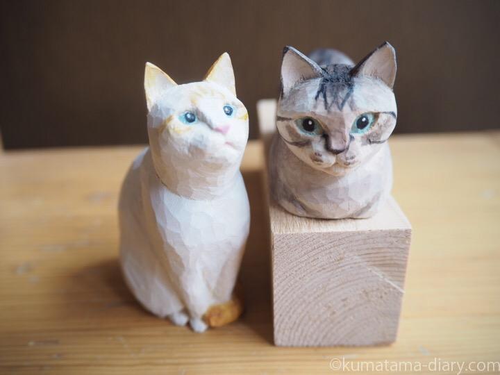 木彫り猫シャムトラオレンジシャム