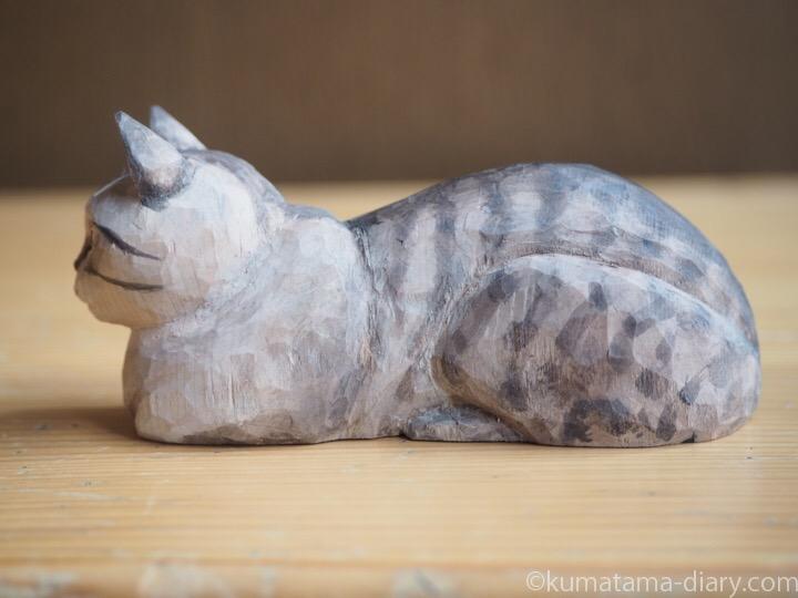 シャムトラ木彫り猫左