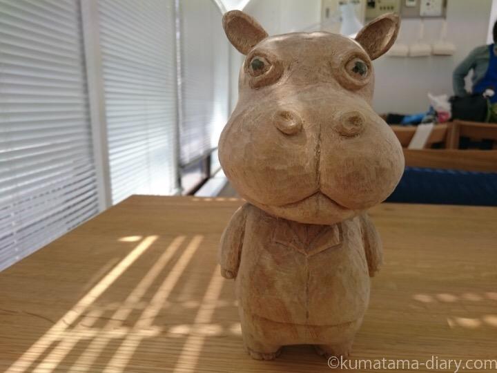 カバの彫刻