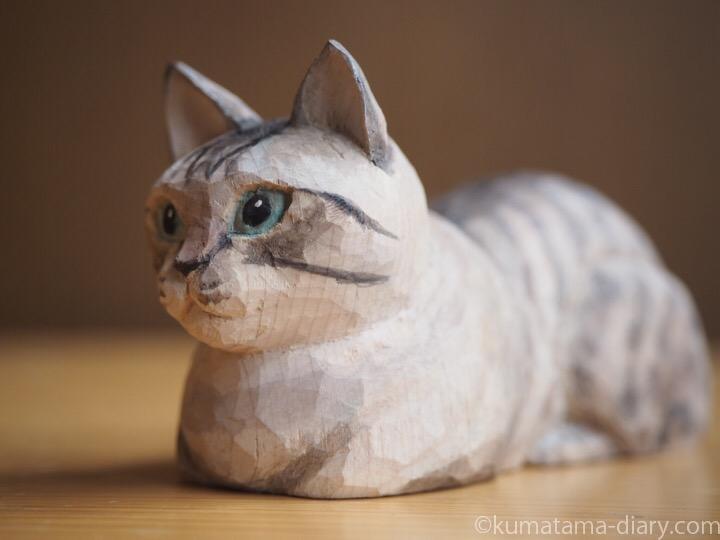 シャムトラ木彫り猫