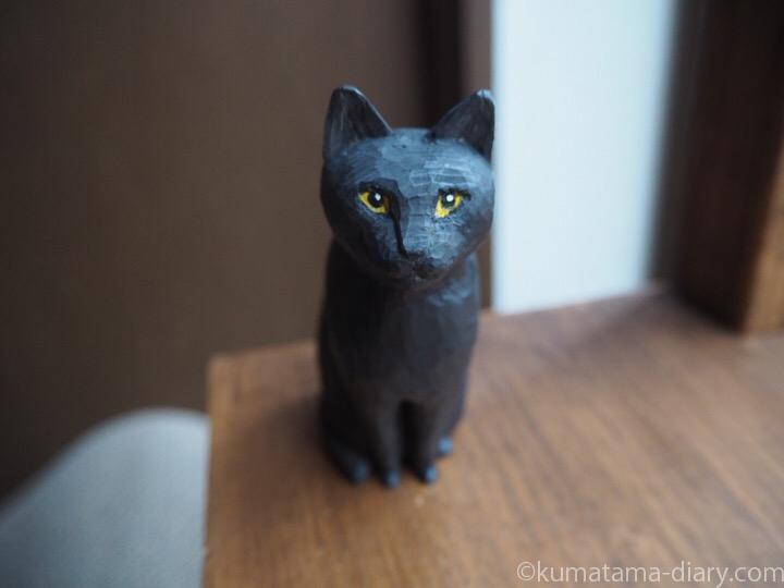 木彫り黒猫