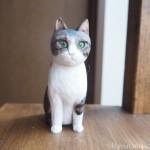 キジトラ白猫の木彫り猫のご感想