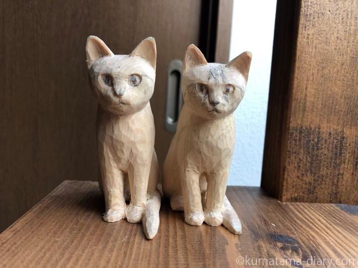 木彫り猫途中