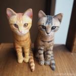 キジトラと茶トラ兄弟の木彫り猫のご感想