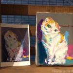 【赤坂ジャローナ】加藤智子さんの作品展「CATS  ~愛すべき手強い奴ら~」を見ました