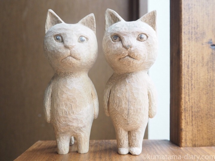 木彫り猫たまきふみお
