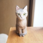 キジトラ猫さんの木彫り猫を作りました